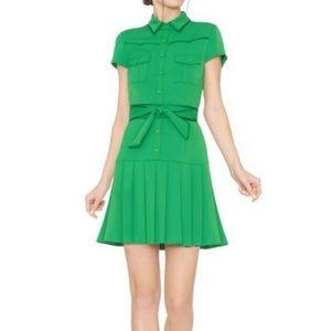 Alice + Olivia Yoko green dress
